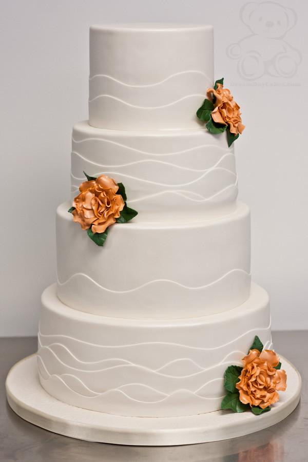Wedding Cakes Gainesville Fl  Clean Wave Wedding Cake Gainesville