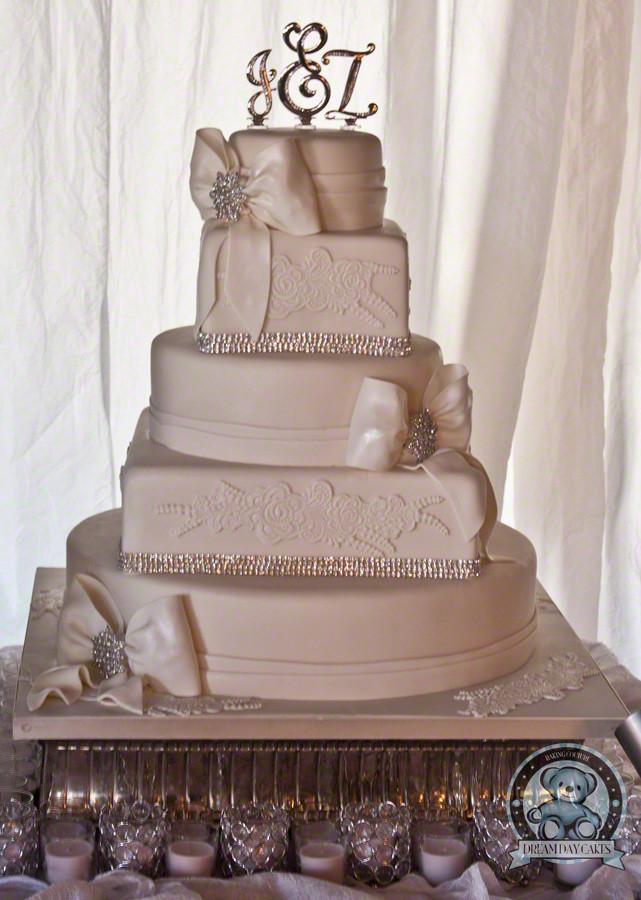 Wedding Cakes Gainesville Fl  Fondant Lace Wedding Cake – Gainesville