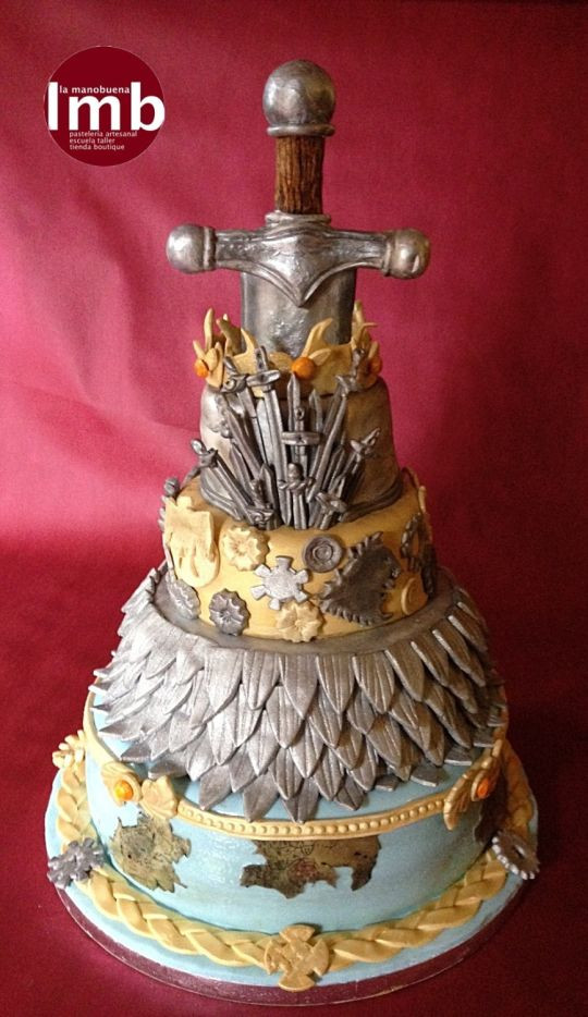 Wedding Cakes Games  Game of Thrones´s wedding cake cake by LA MANOBUENA