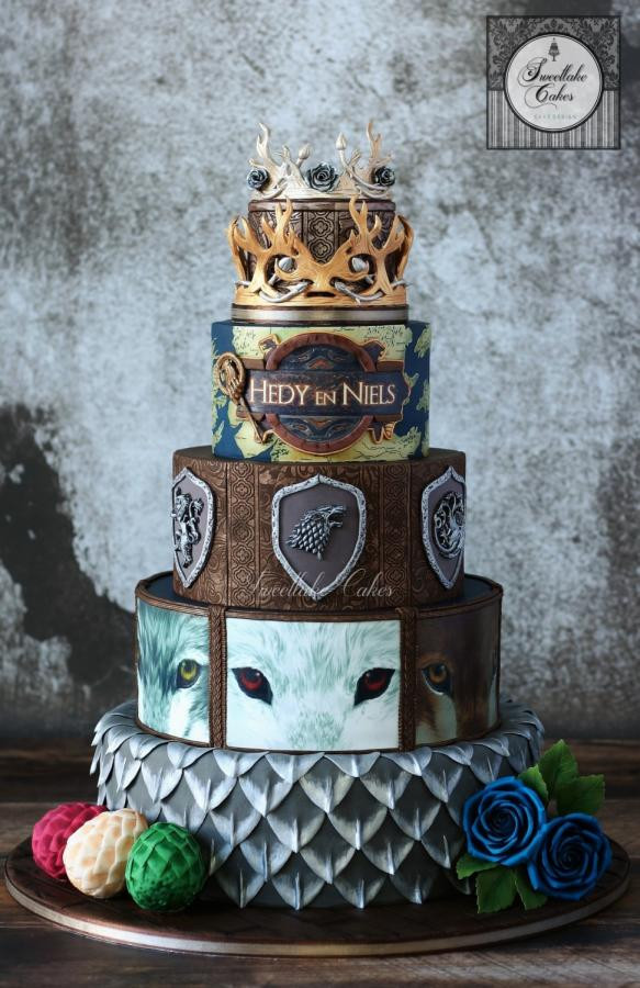 Wedding Cakes Games  Game of Thrones inspired wedding cake cake by Tamara