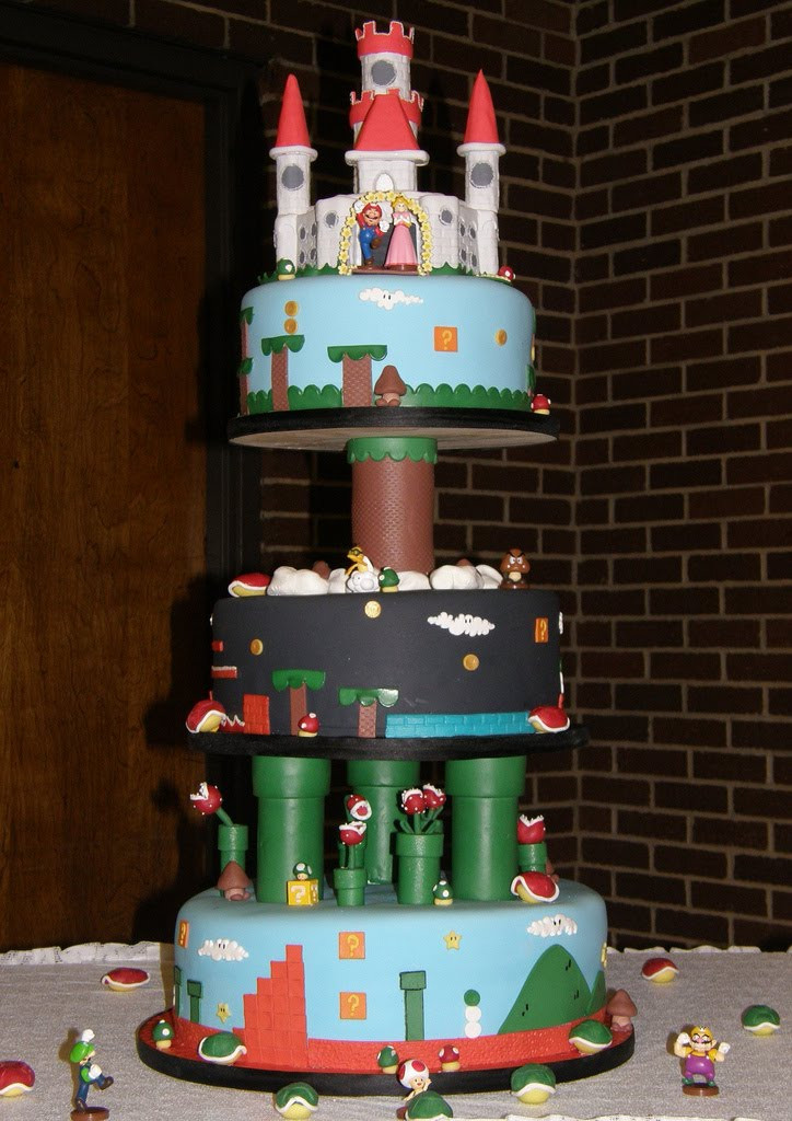 Wedding Cakes Games  BrideTide Blog Wedding Resource Mario Video Game