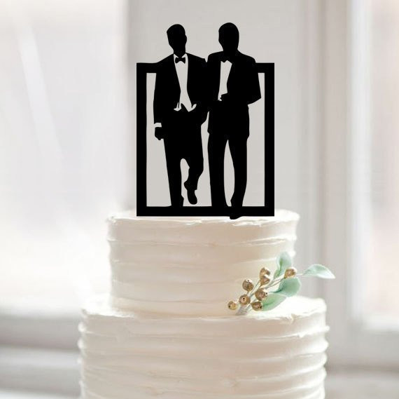Wedding Cakes Gay  10 Perfect Gay Wedding Cake Toppers