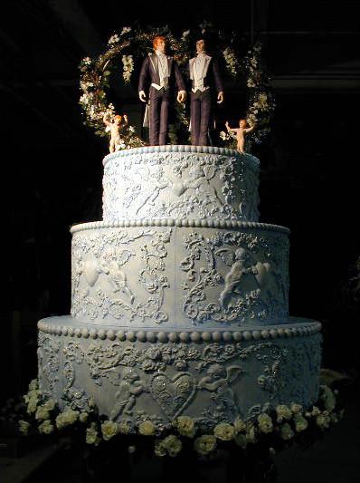 Wedding Cakes Gay  Gay Pride March Wedding Cake