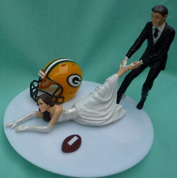Wedding Cakes Green Bay  Wedding Cake Topper Green Bay Packers G Football Themed w