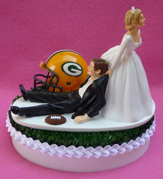 Wedding Cakes Green Bay the Best Ideas for Wedding Cake topper Green Bay Packers Football themed Gb