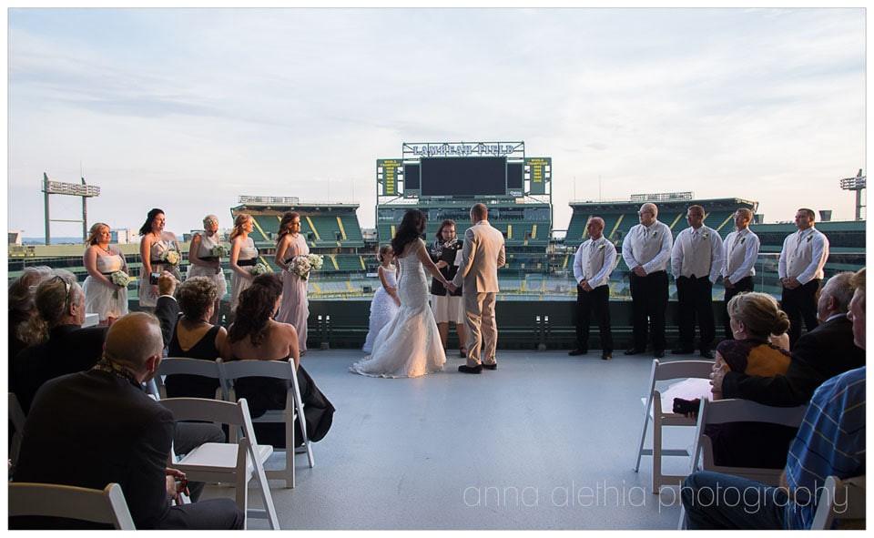 Wedding Cakes Green Bay Wi  Green Bay WI Lambeau Field Wedding graphy