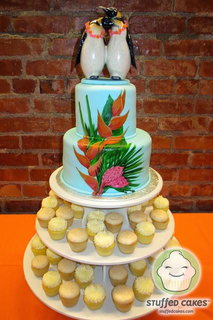 Wedding Cakes Hawaii  Stuffed Cakes Hawaiian Penguins Wedding Cake