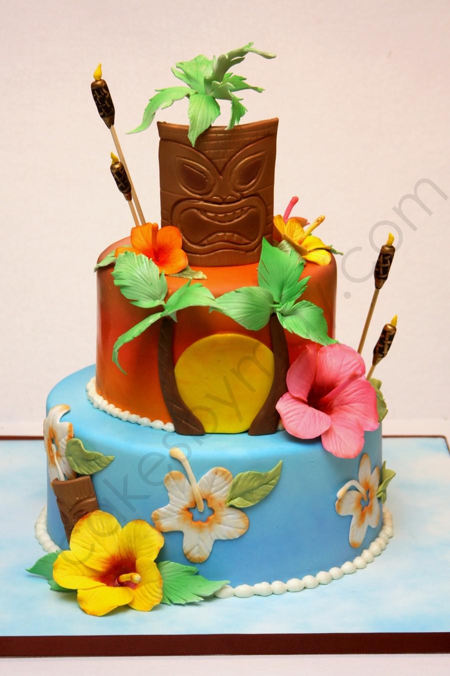 Wedding Cakes Hawaii  Hawaiian Themed Birthday Cake CakeCentral