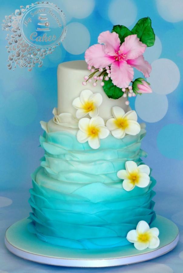 Wedding Cakes Hawaii  Hawaii themed wedding cake cake by Beata Khoo CakesDecor