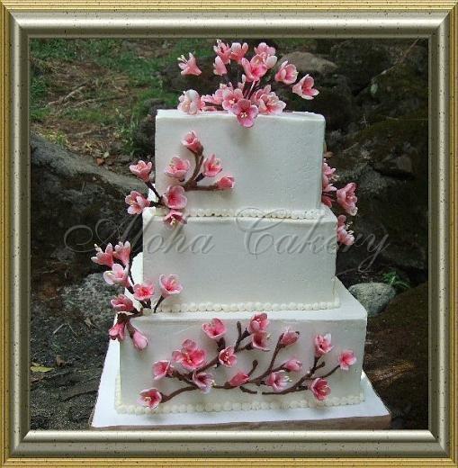 Wedding Cakes Honolulu  Sakura Honolulu wedding cake