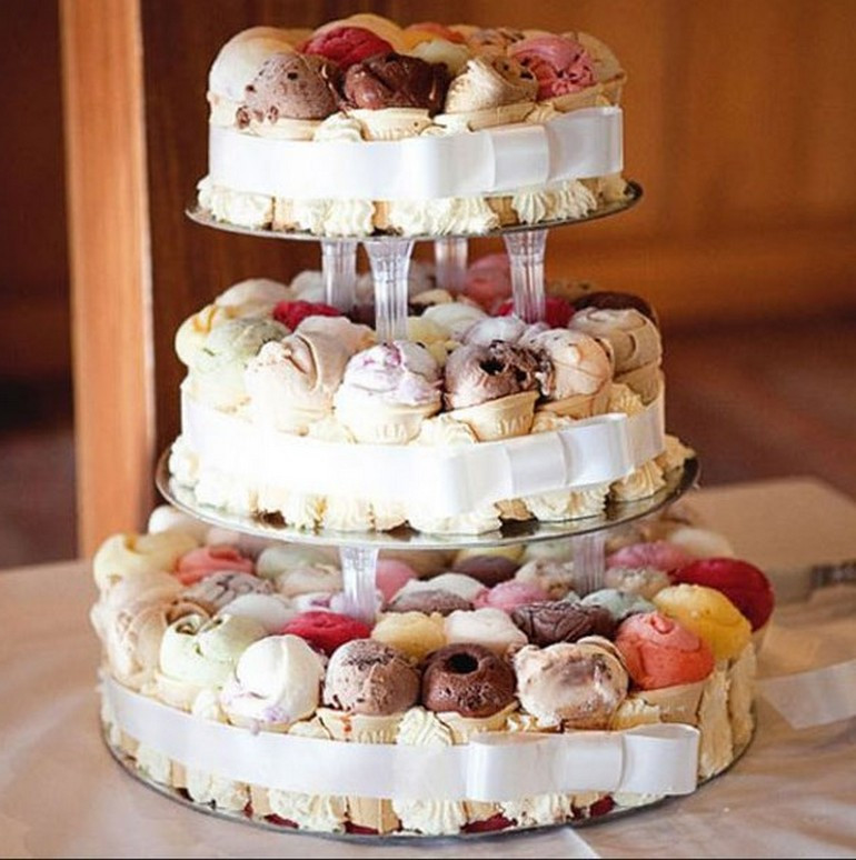 Wedding Cakes Ice Cream  Ice cream wedding cakes idea in 2017