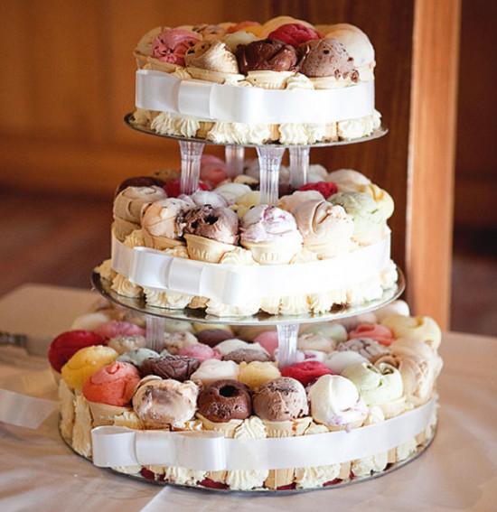 Wedding Cakes Ice Cream  Sweet Summer Treats Ice Cream at Weddings