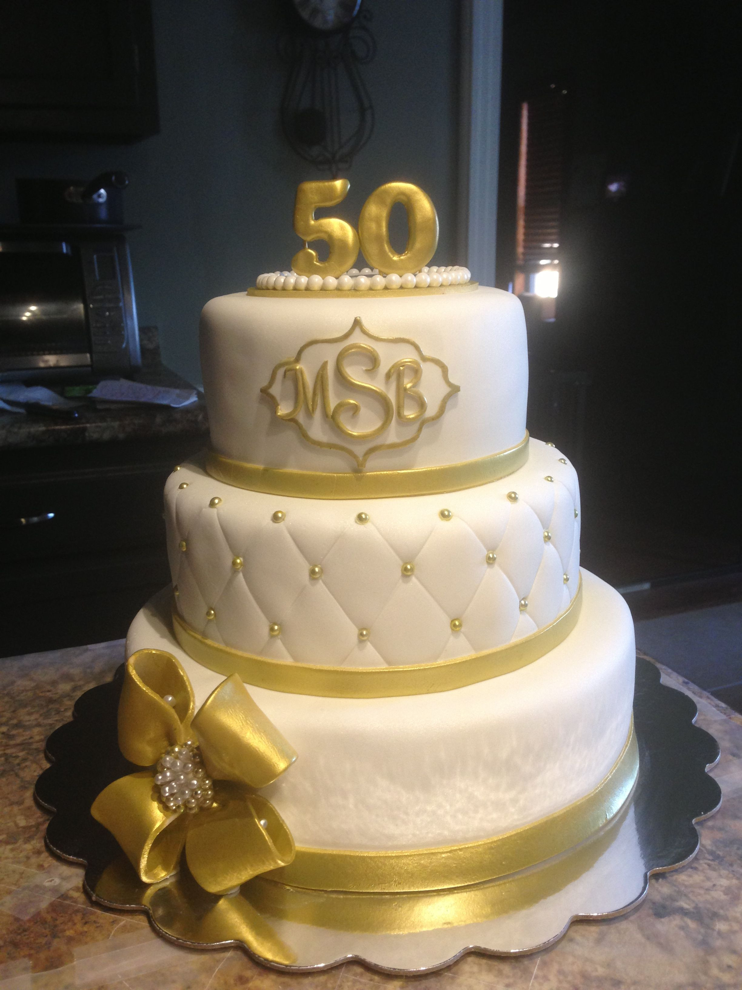 Wedding Cakes In Memphis Tn  50th wedding anniversary cake i made Mallory Gray 50