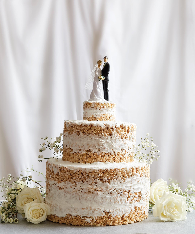 Wedding Cakes Ingredients  No Bake Rice Krispies Wedding Cake Recipe