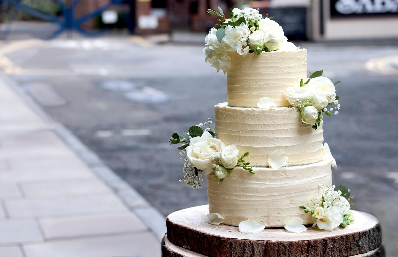 Wedding Cakes Ingredients  Three tiered vegan wedding cake