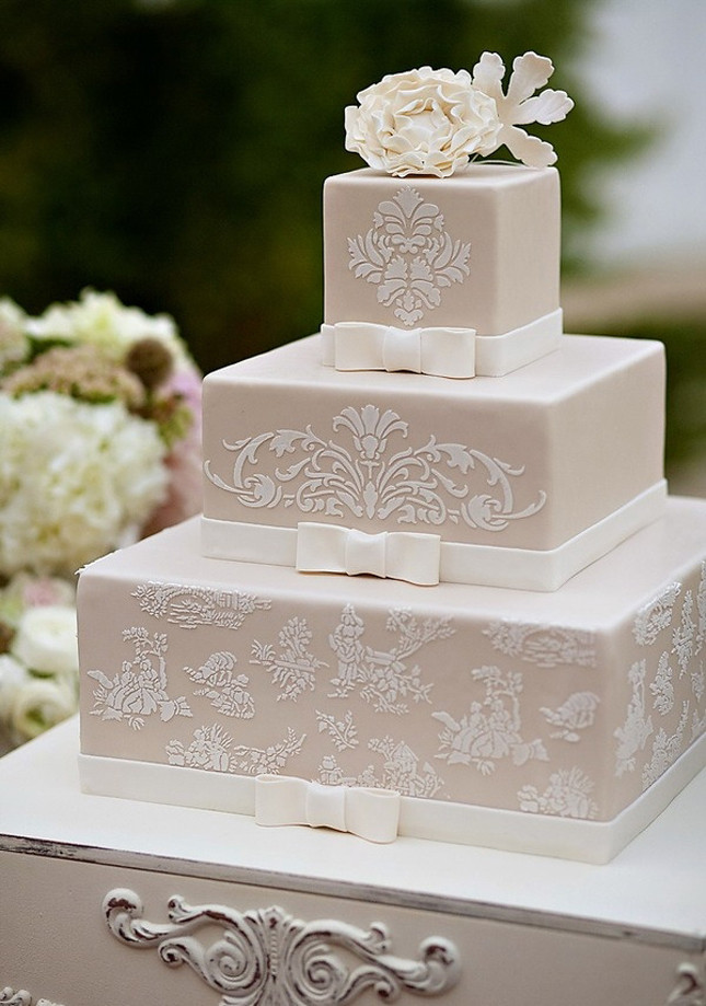 Wedding Cakes Lace  Wedding Trends Lace Cakes Part 3 Belle The Magazine