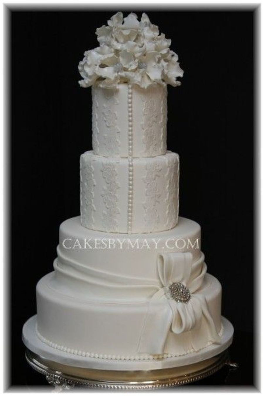 Wedding Cakes Lace  Lace Wedding Cake CakeCentral