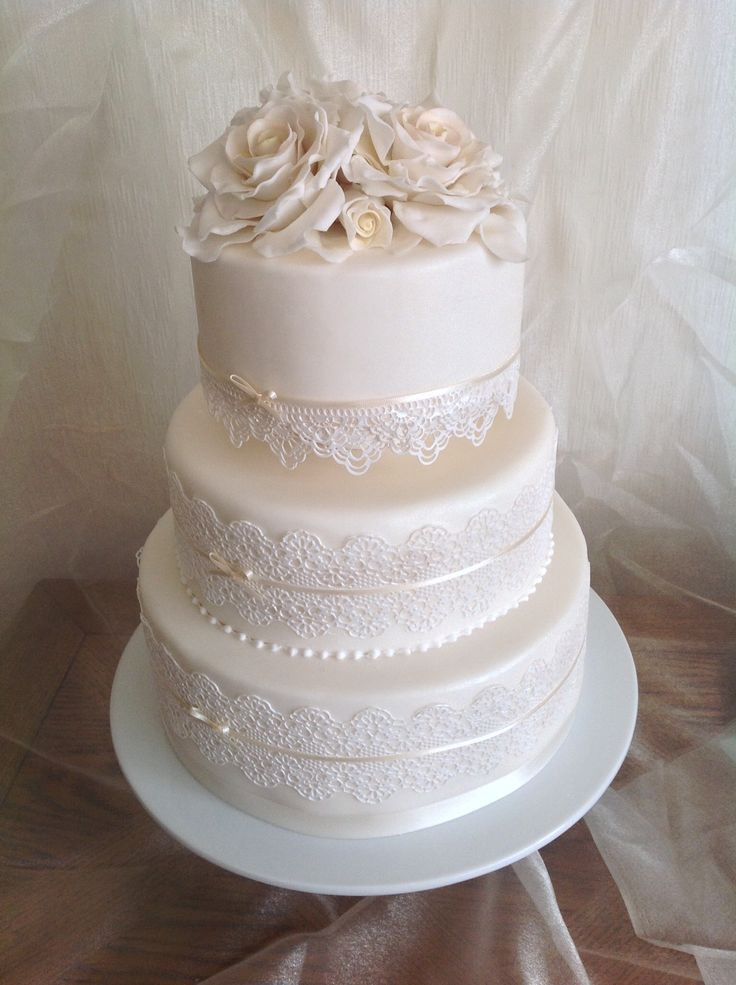 Wedding Cakes Lace  Edible lace for wedding cakes idea in 2017