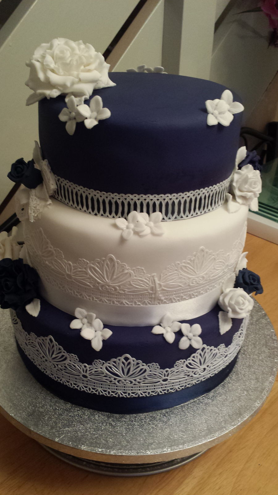 Wedding Cakes Lace  Vintage Edible Lace Wedding Cake CakeCentral