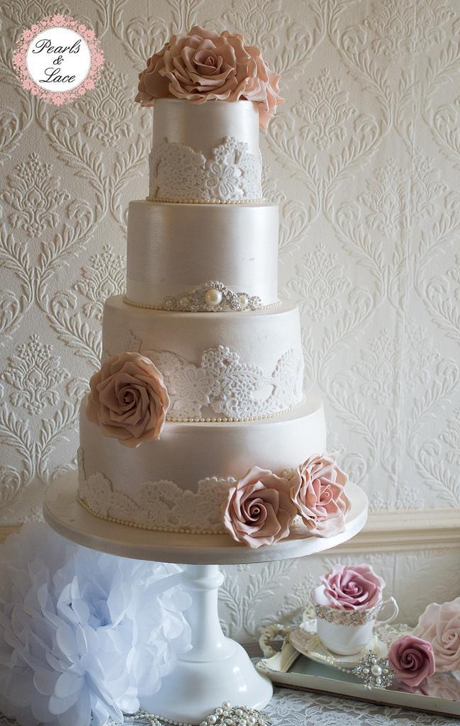 Wedding Cakes Lace  Wedding Cakes Lustre & Lace Wedding Cake Weddbook