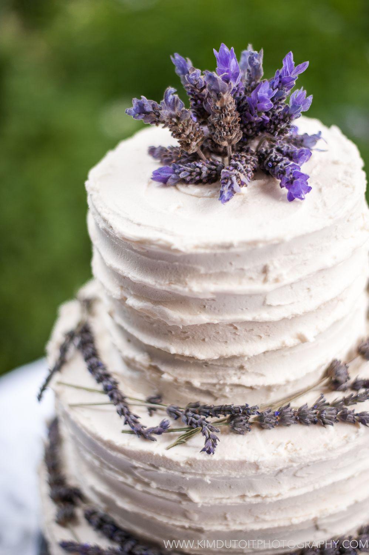 Wedding Cakes Lavender  Rustic lavender wedding cake
