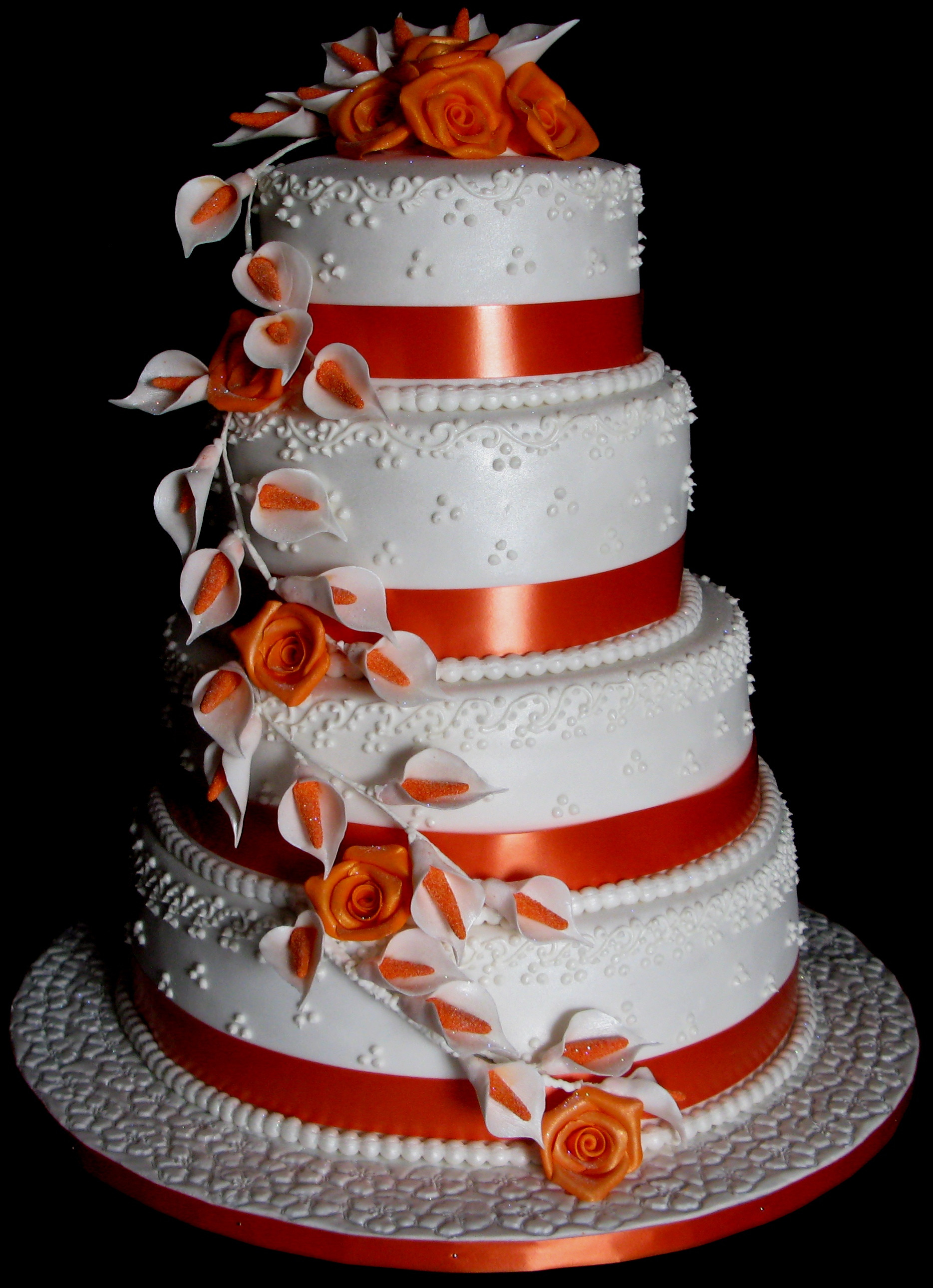 Wedding Cakes Layers  Four Layer Wedding Cake – Roses and Lilies