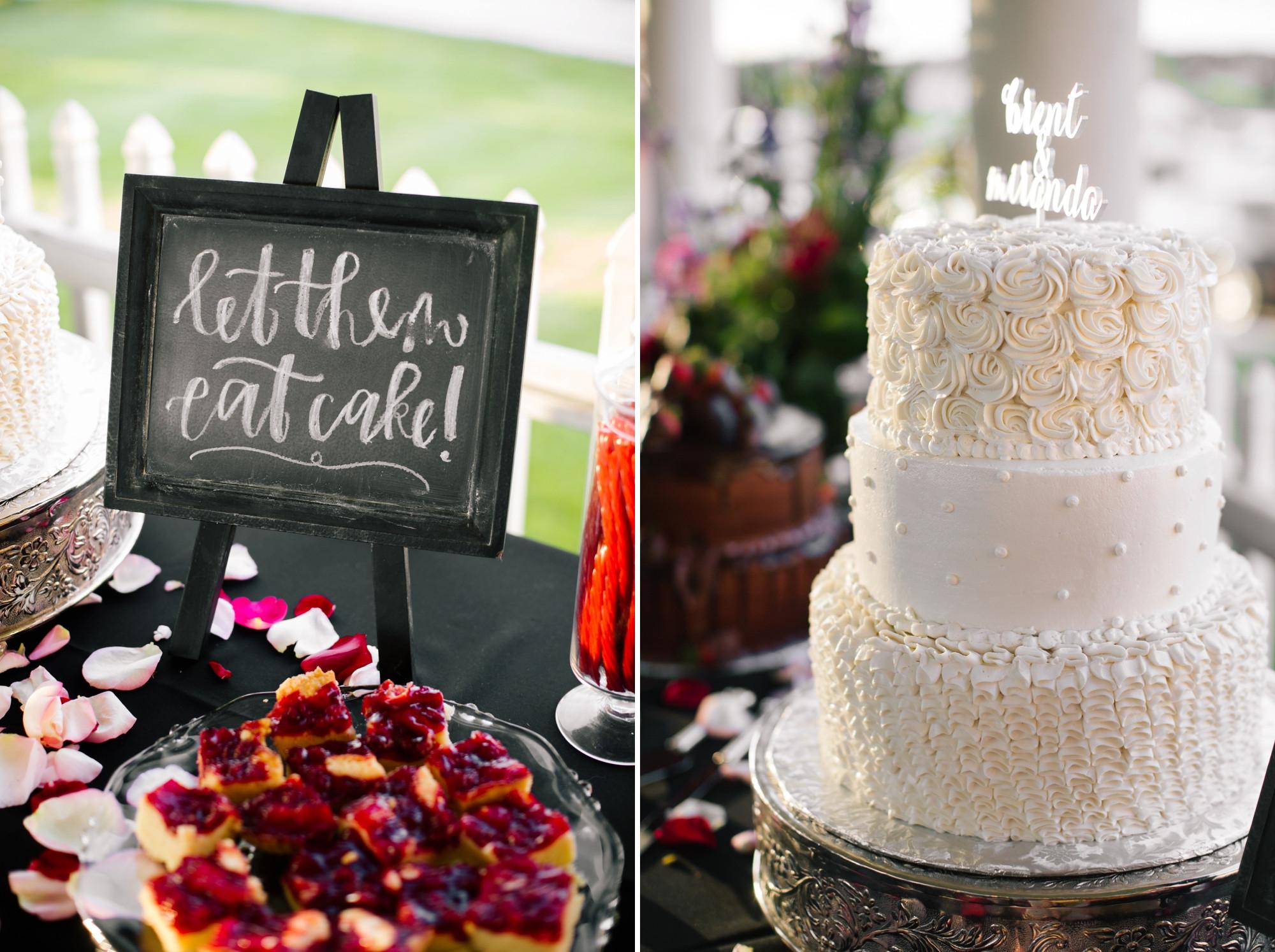 Wedding Cakes Lincoln Ne  Brent & Miranda at Soaring Wings Vineyard Nebraska