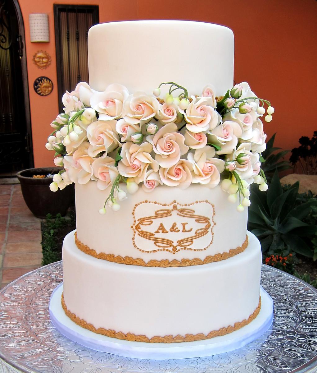 Wedding Cakes Los Angeles  Delicious Arts Wedding Cake California Los Angeles