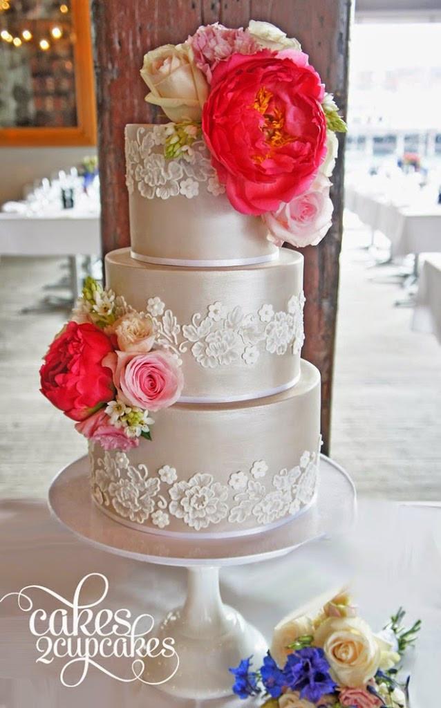 Wedding Cakes Magazines  Lace Wedding Cakes Belle The Magazine