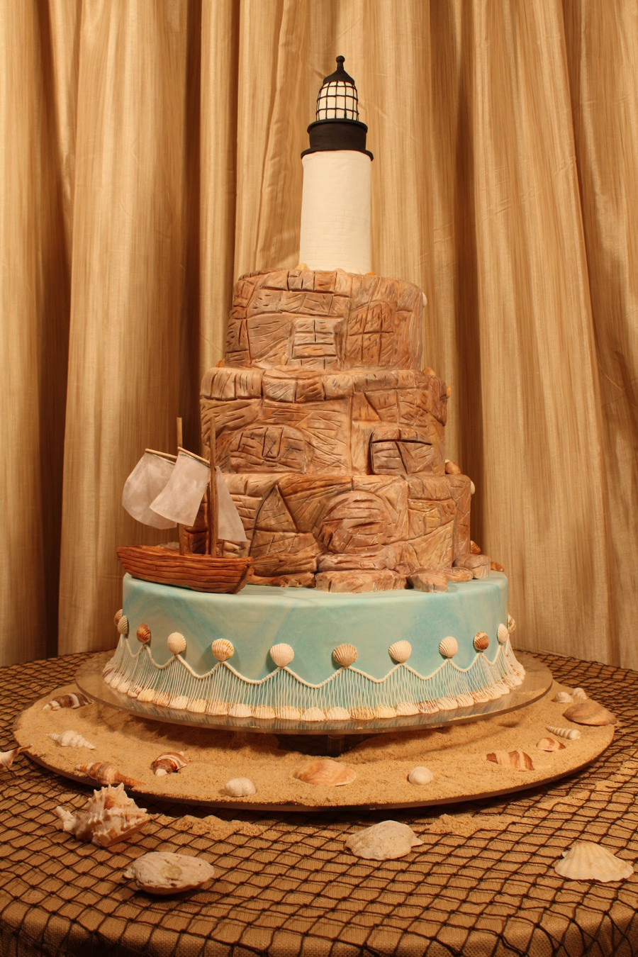 Wedding Cakes Maine  Maine Themed Wedding Cake CakeCentral