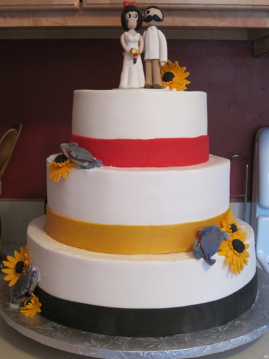 Wedding Cakes Maryland  Maryland Themed Wedding Cake CakeCentral