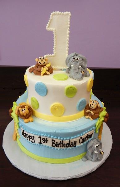 Wedding Cakes Massachusetts  1st Birthday Baby Jungle I Danvers wedding cake