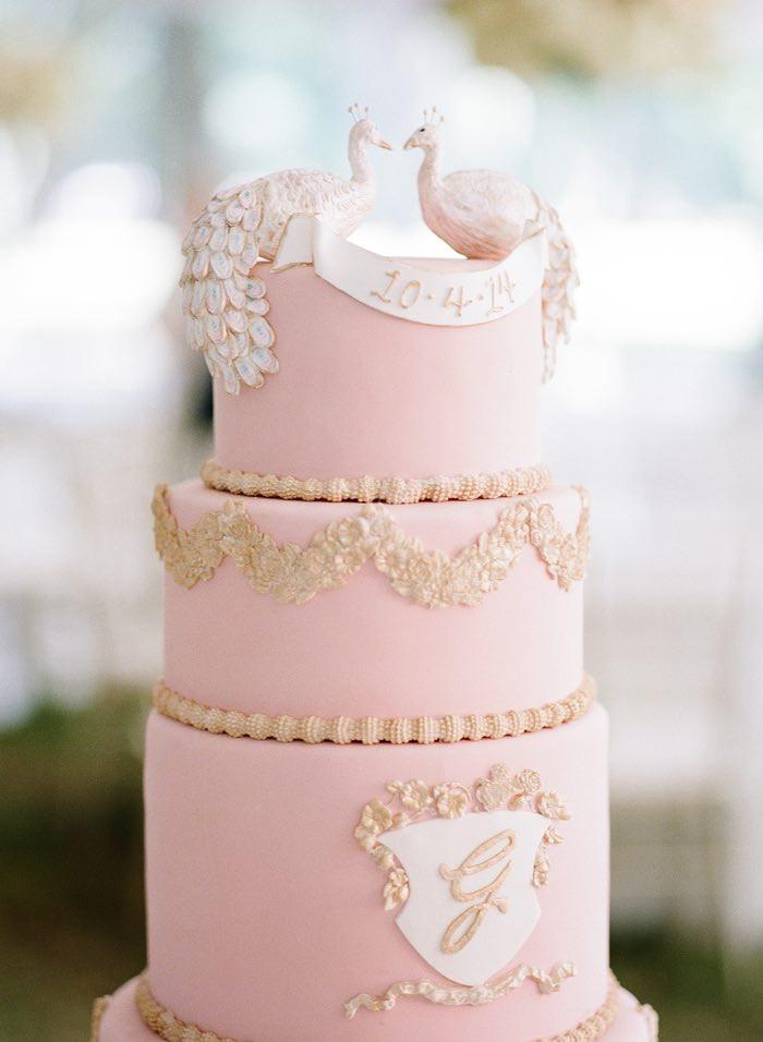 Wedding Cakes Memphis  Elegant Blush and White Memphis Wedding MODwedding