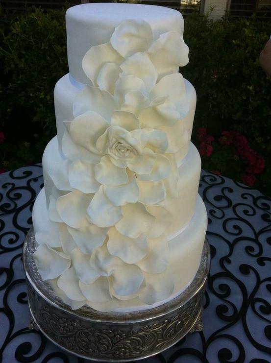 Wedding Cakes Mesa Az  All white wedding cake from Sassy s Cafe and Bakery in