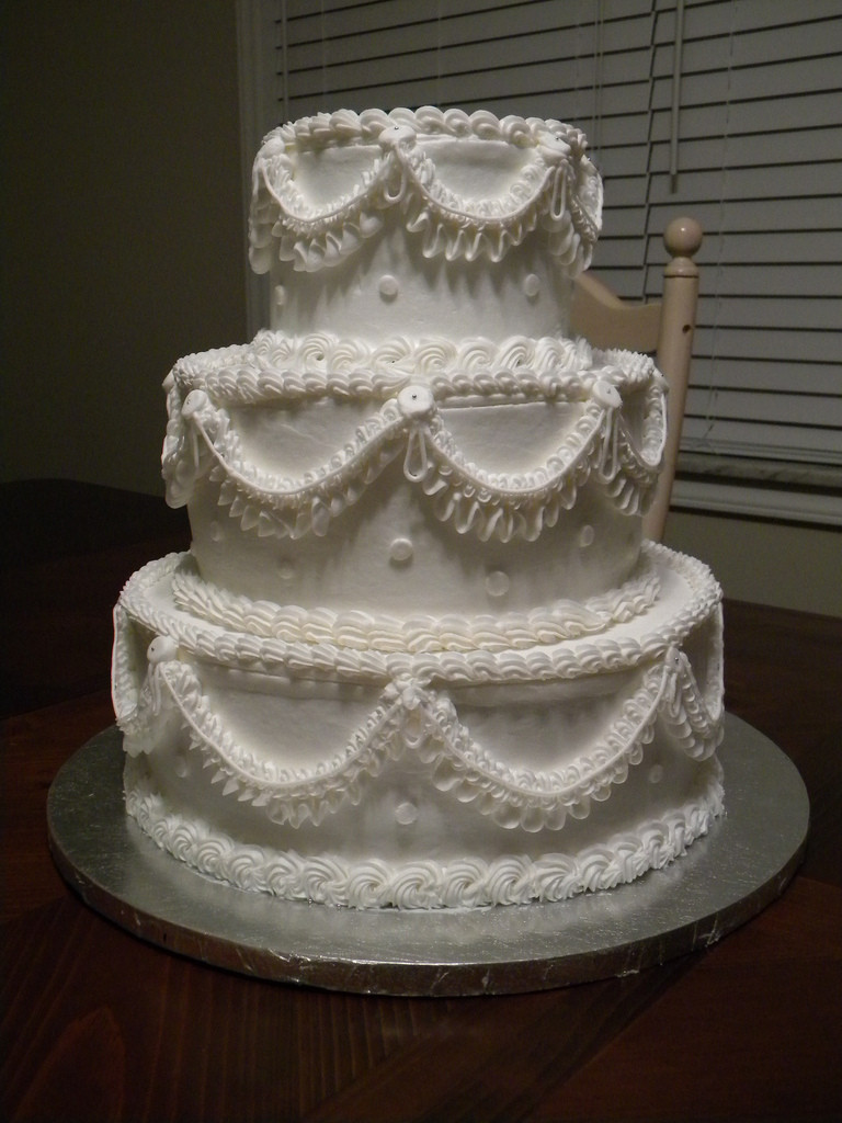 "Wedding Cakes Messages  ""Old School"" Traditional Wedding Cake"