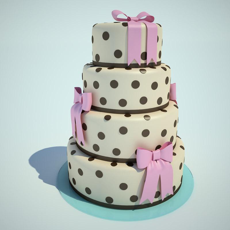 Wedding Cakes Models  3d model wedding cake