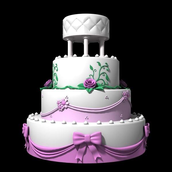 Wedding Cakes Models  wedding cake 3d dxf