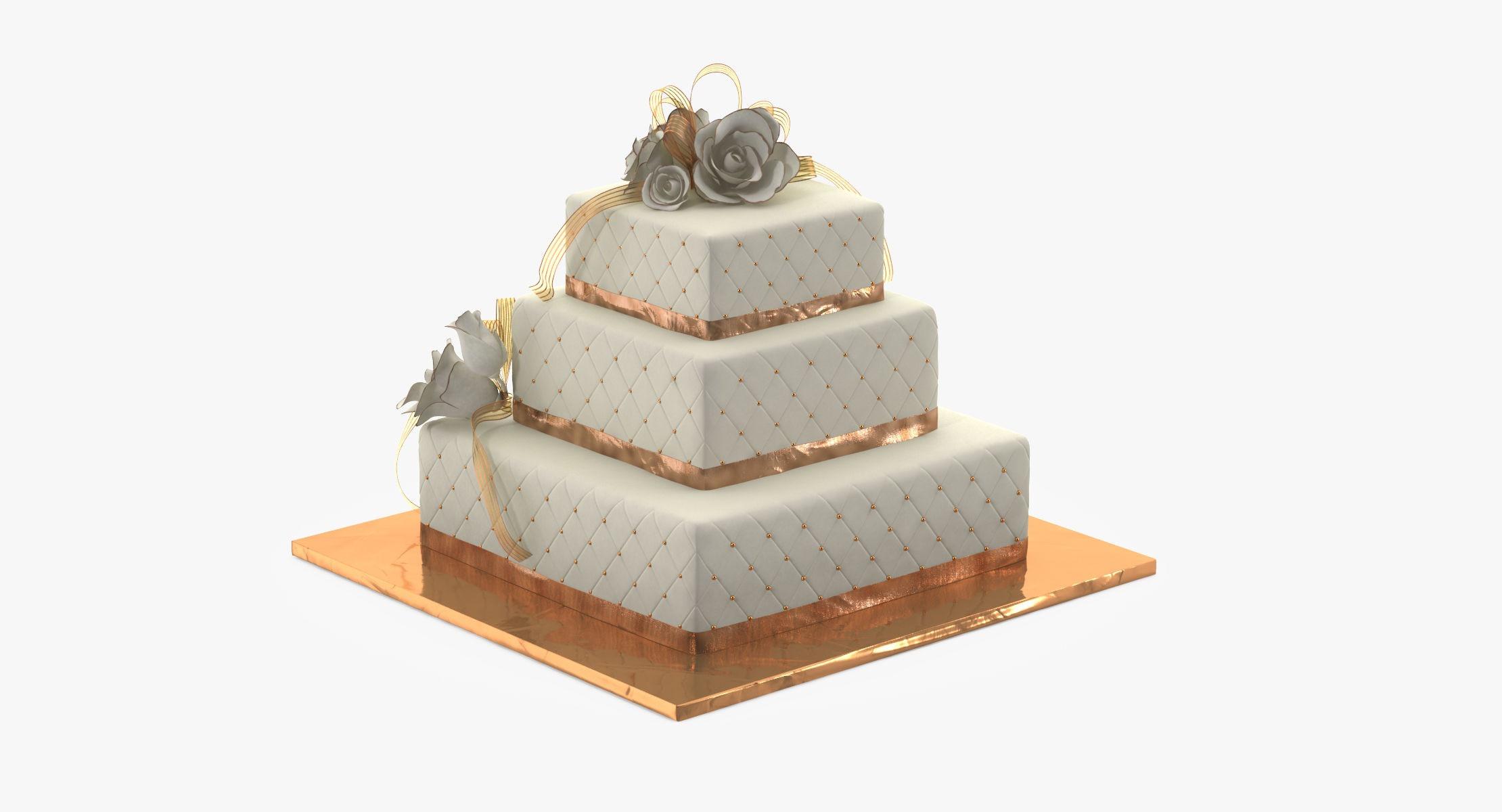 Wedding Cakes Models  Square Wedding Cake