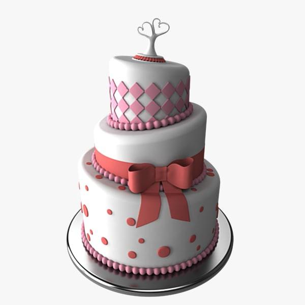 Wedding Cakes Models  3d model stylized wedding cake