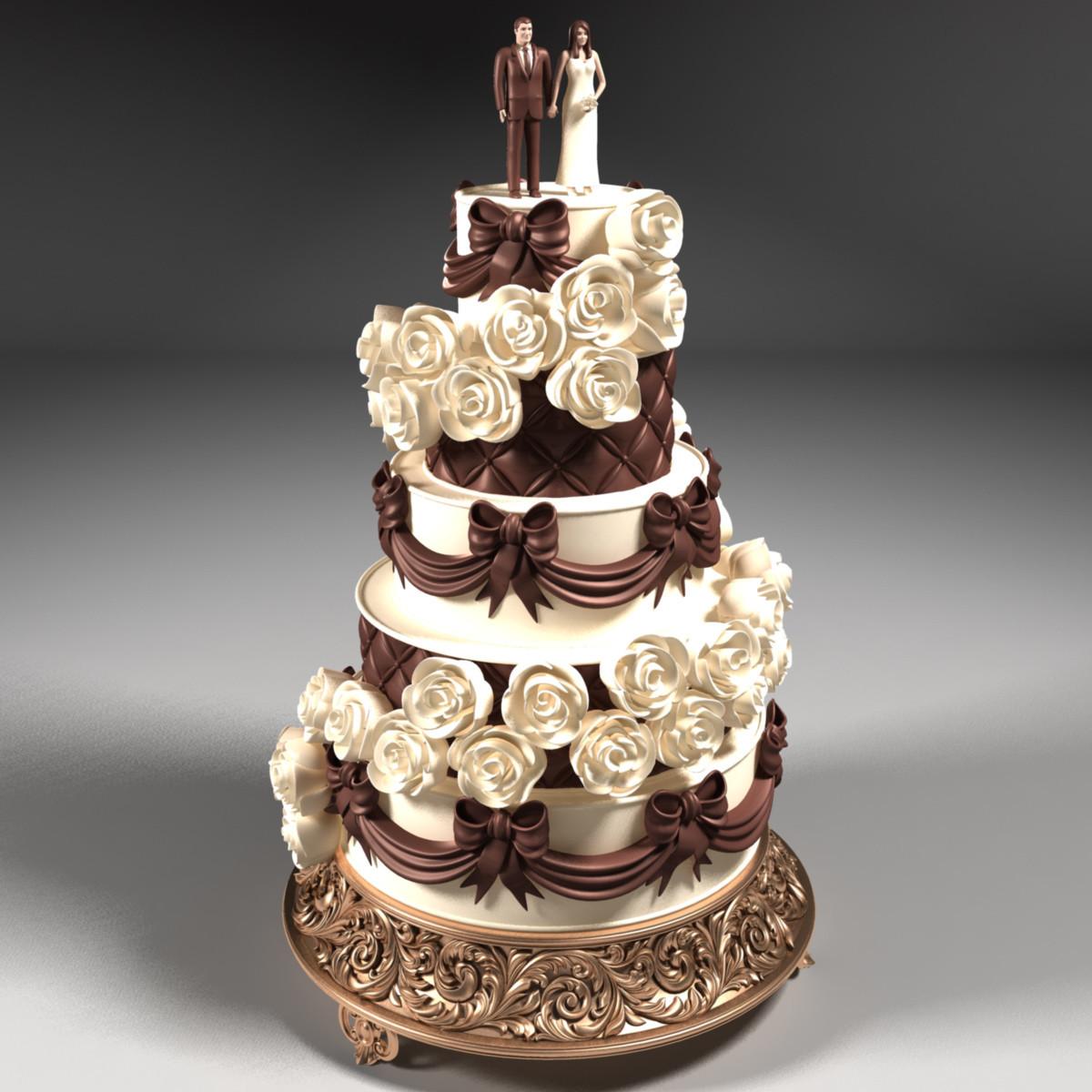 Wedding Cakes Models  Wedding Cake 3D Model 3DHunt
