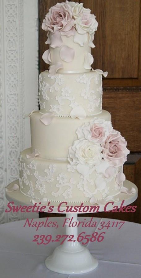 Wedding Cakes Naples Fl  Sweetie s Custom Cakes s Wedding Cake