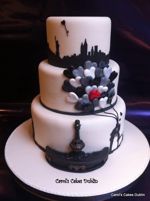 Wedding Cakes New York  New york Banksy inspired wedding cake cake by Carol