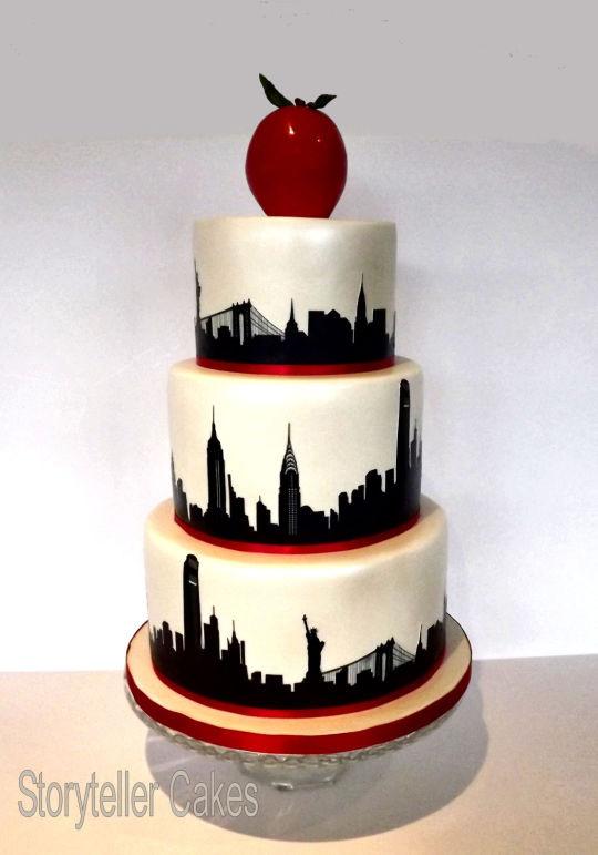 Wedding Cakes New York  New York Theme Wedding Cake Cake by Storyteller Cakes