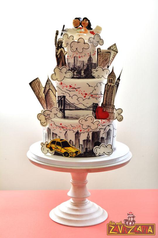 Wedding Cakes New York  New York Wedding Cake cake by Nasa Mala Zavrzlama
