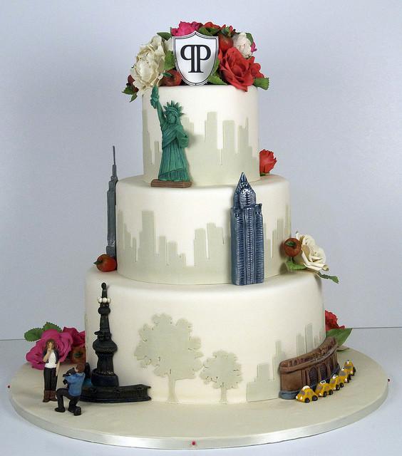 Wedding Cakes New York  Fabulous New York Themed Ideas B Lovely Events