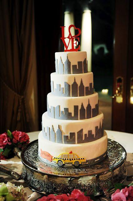 Wedding Cakes Nyc  New York Inspired Wedding Cake by Studio Tran