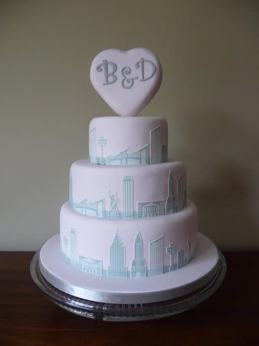 Wedding Cakes Nyc  New York Skyline Wedding Cake Cake by Susan Stevenson