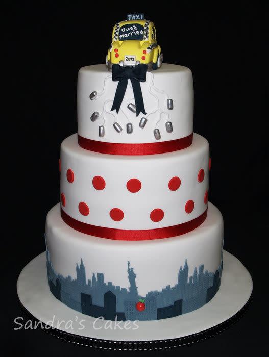 Wedding Cakes Nyc  New York Wedding cake by Sandra s cakes CakesDecor