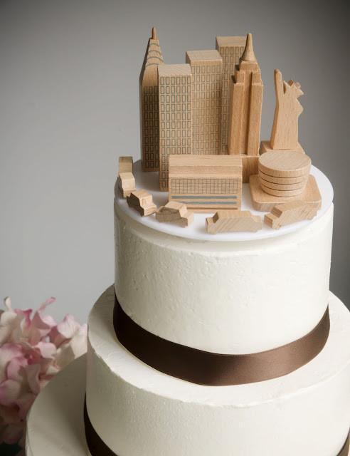 Wedding Cakes Nyc  A Simple Cake Wedding Cake Topper NYC Skyline