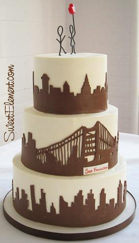 Wedding Cakes Nyc  san francisco skyline wedding cake